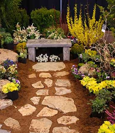 Part of Serenescapes's display at the 2015 Home and Garden Show in Charlottesville