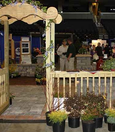 Part of Serenescapes display at the Blue Ridge Home Builders Association Home and Garden Show in 2015