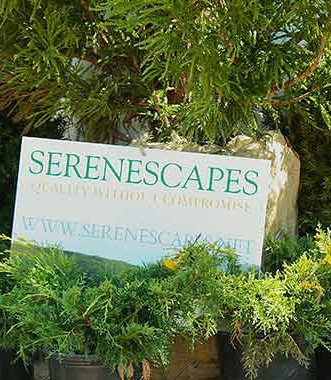 Serenescapes' outdoor display at the 2015 Blue Ridge Home Builders Association's Home and Garden Show