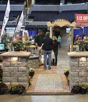 Serenescapes' vendor booth at the Home and Garden Show in 2015