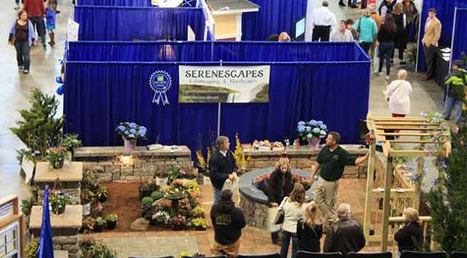 The Serenescapes vendor booth at the Blue Ridge Home Builders Association's Home and Garden Show in 2015