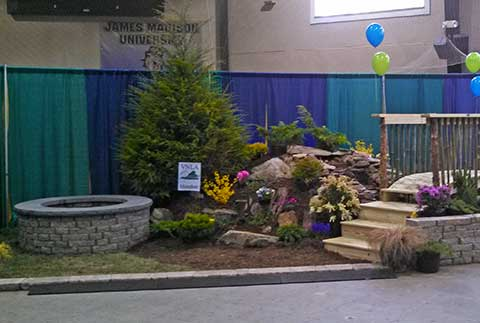 Serenescapes's best in show booth at the 2014 Home and Garden Festival in Charlottesville