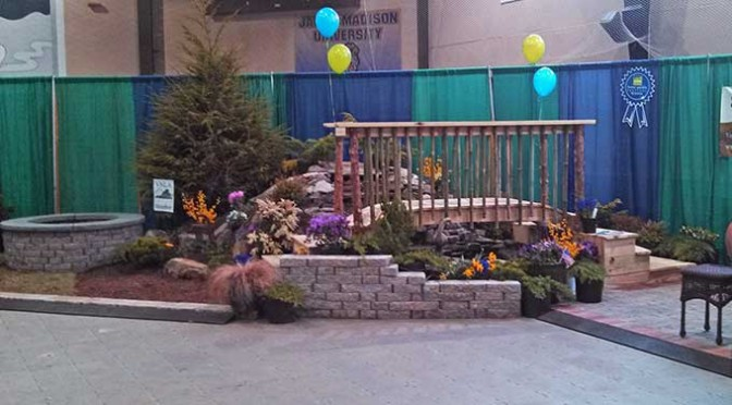 Serenescapes's award-winning display booth at the 2014 Home and Garden Festival in Charlottesville