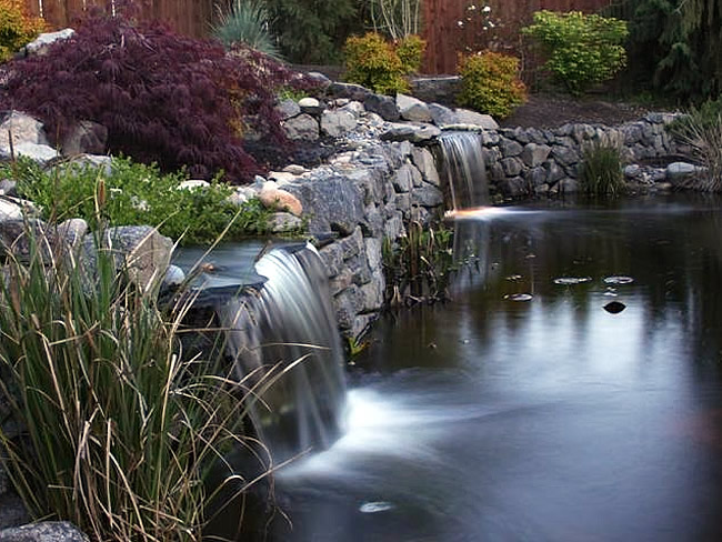 Water Features Including Waterfalls Ponds Fountains And