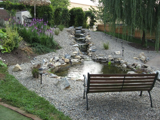 Water features including waterfalls ponds fountains and Waterfall for ponds