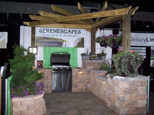 Serenescapes's booth at the Home & Garden Festival 2012