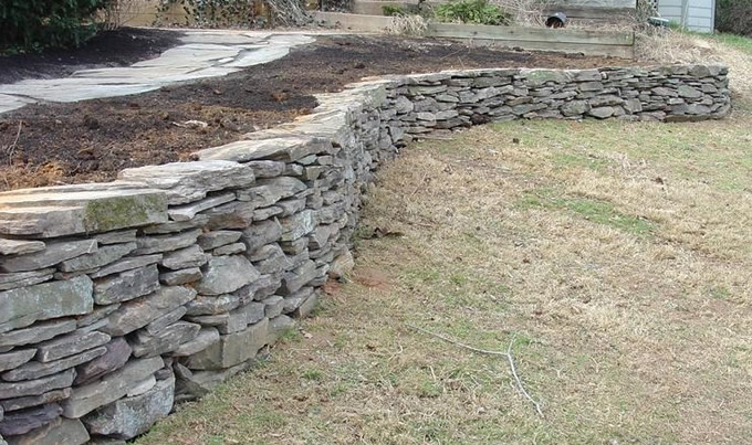 Wall Natural Stone : Hardscapes are a great investment in your home serenescapes